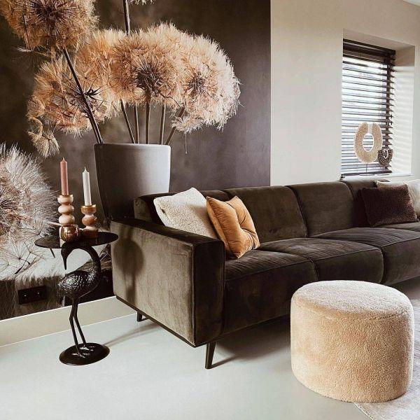 4 Sitzer Sofa STATEMENT Samt dunkelgrün