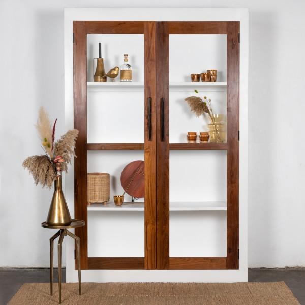 Schrank Vitrine Aaliya H 210 cm Küchenschrank weiss