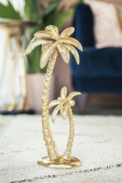 BY-BOO Deko Skulptur Sanka gold Palme