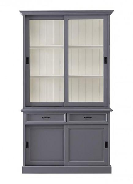 Buffetschrank VENEDIA Küchenschrank 125 x 215 cm grau