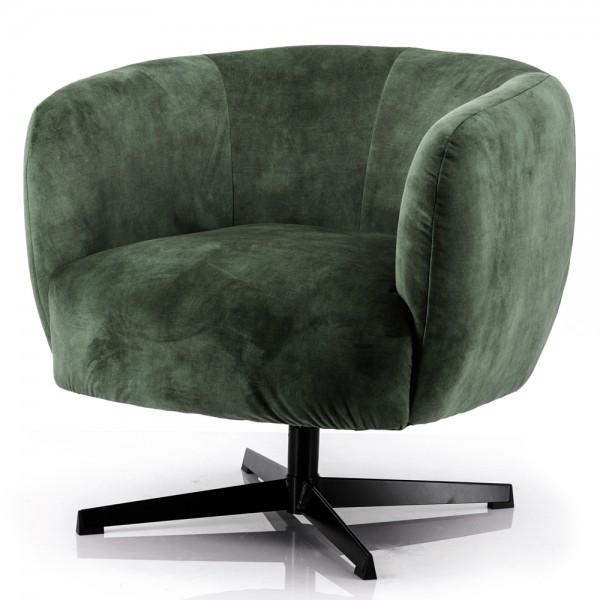 Lounge Club Sessel Jaimey Samt grün Velvet Relaxsessel