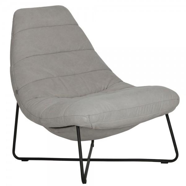 MUST Living Lounge Sessel Line Baumwolle hellgrau