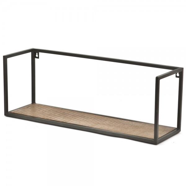 Wandregal Stand Off 70 cm breit Metall Massivholz Ablageregal Aufbewahrung Regal