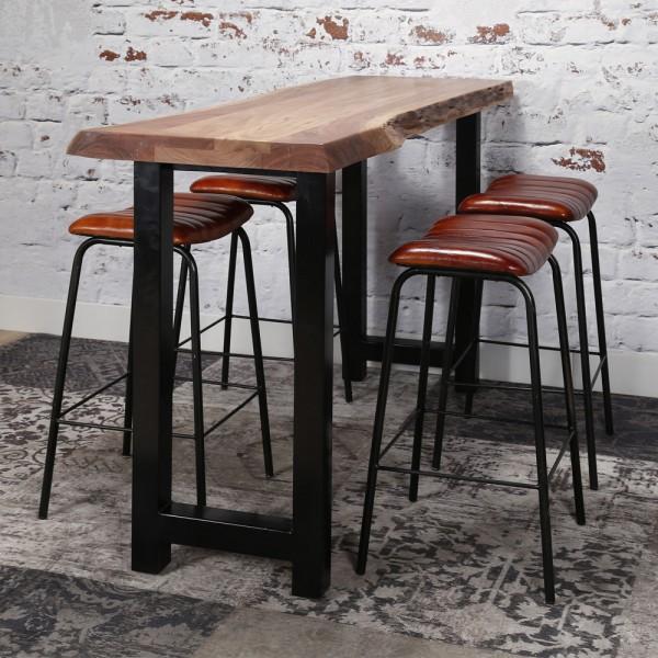 Barstuhl FRANCIS Barhocker vintage braun Sitzhöhe 70 cm