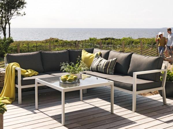 Garten Lounge Set Joliette incl. Kissen weiss