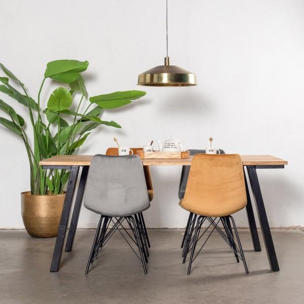 Esstisch Tine 170 x 90 cm Mango Holz Metallbeine