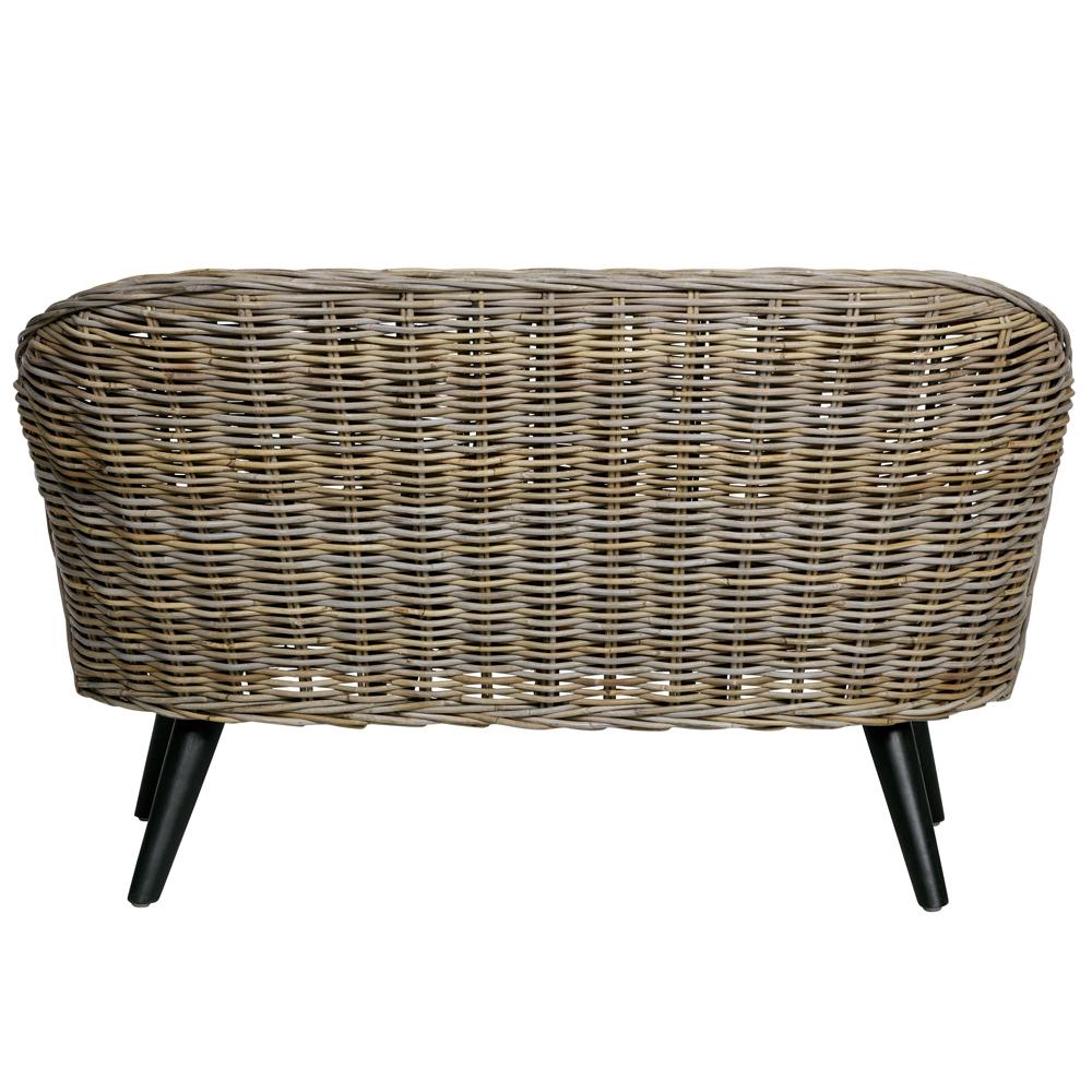 Gut bekannt 2 Sitzer Rattan Sofa SARA 127 cm Gartensofa Lounge Loungesofa DZ69
