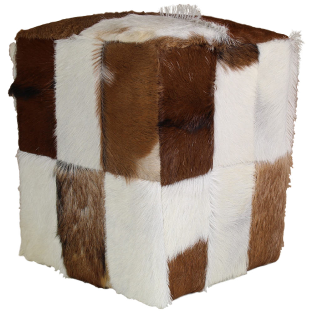 hocker patchwork iii 35 x 35 cm ziegenhaut fu hocker. Black Bedroom Furniture Sets. Home Design Ideas
