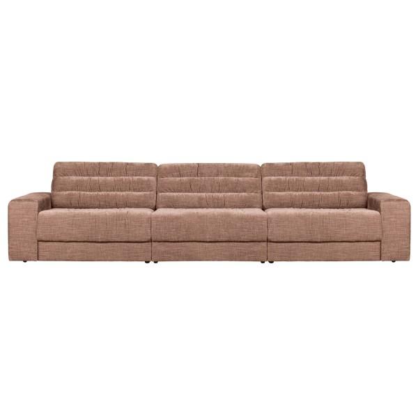BePureHome 3 Sitzer Sofa Date 316 cm vintage Samt rougefarben Couch