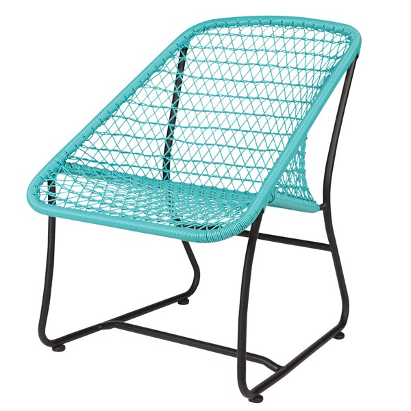 Lounge Stuhl VIGO Metall türkis Terrassenstuhl Esszimmerstuhl Loungestuhl