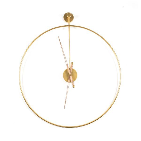 Wanduhr Sundial rund Ø 70 Metall gold Wanduhr Clock Uhr batteriebetrieben