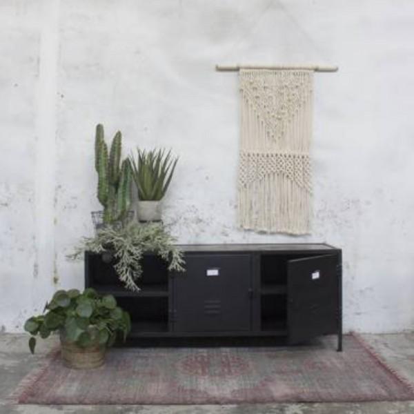 industrie design tv m bel vix tisch fernseh kommode rack board metall vintage schwarz new. Black Bedroom Furniture Sets. Home Design Ideas