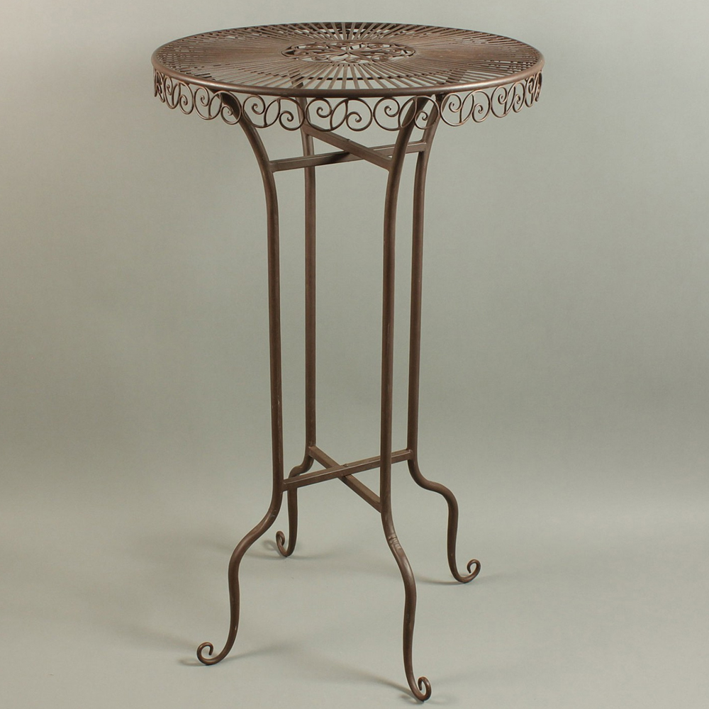 landhaus eisentisch 65 cm tisch beistelltisch garten. Black Bedroom Furniture Sets. Home Design Ideas