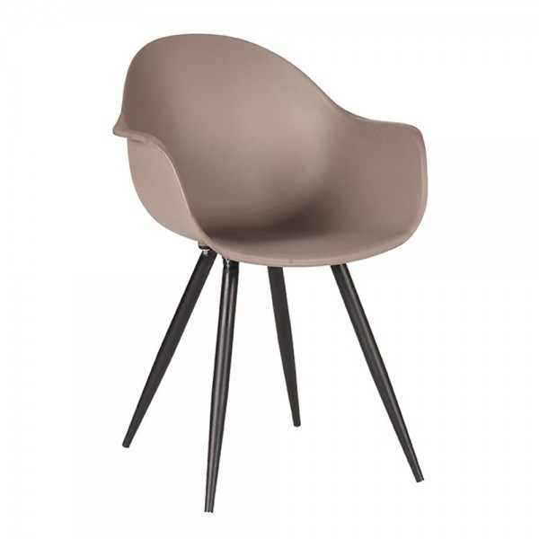 Schalenstuhl Luca coffee Armlehne Stuhl Esszimmerstuhl Esszimmer Armlehnstuhl Stühle