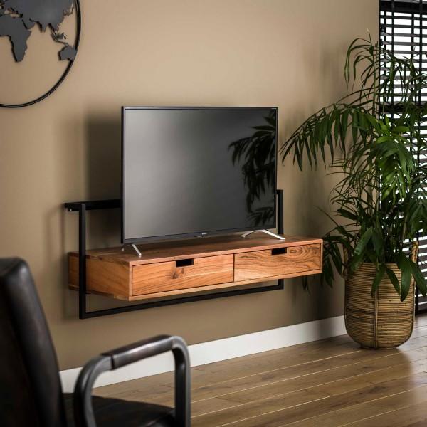 TV Möbel BLOW hängend 120 cm Akazie TV-Baord