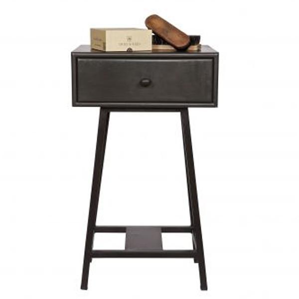 Skybox beistelltisch tisch telefontisch nachttisch schwarz for Garderobe 25 cm tief