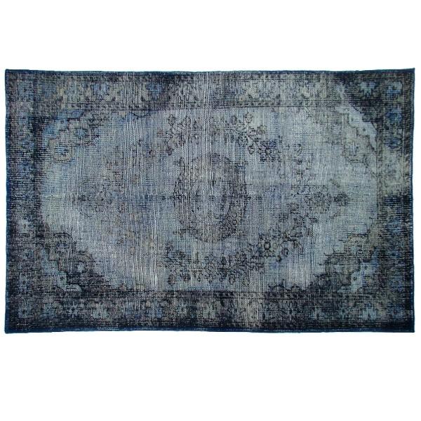 Wollteppich Teppich 180 x 280 cm Muster grau blau