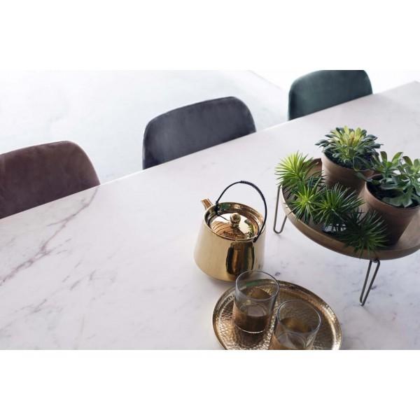 Esstisch Sandro 175 x 90 cm Marmor weiß