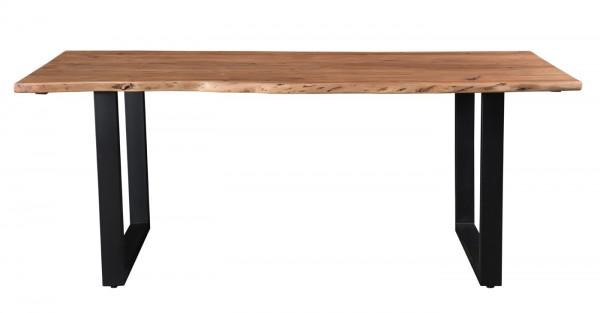 Esstisch Baumkante U 160 x 80 cm Akazie Holz