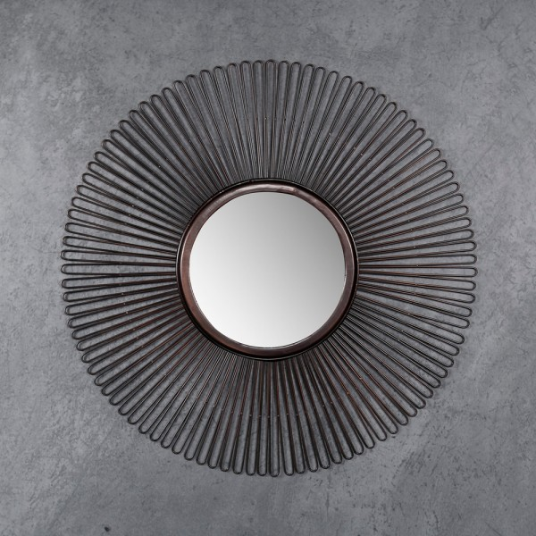 Wandspiegel Blow Ø 80 cm Spiegel Metall braun