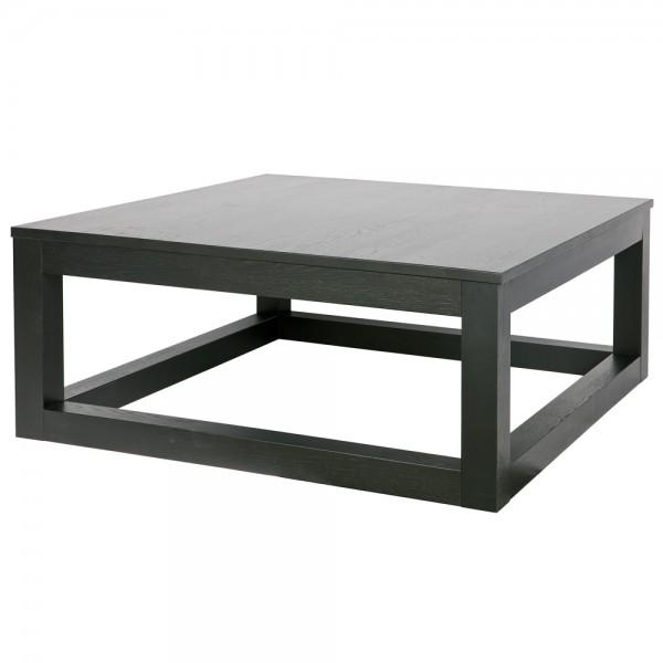 Couchtisch WOUT 85 x 85 cm Eiche blacknight Tisch Holztisch Massivholz Sofatisch