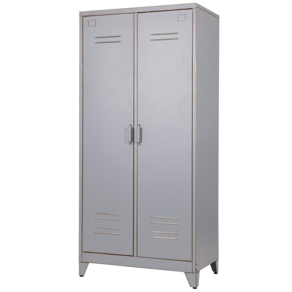 Spindschrank \'Max\' mit 2 Türen Metall vintage grau | Max ...