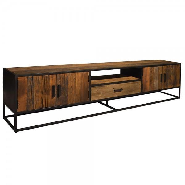 Industrie TV Möbel Lowboard Dakota 240 cm Massivholz Metall