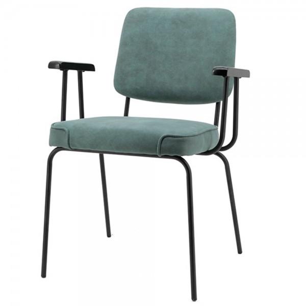 Esszimmer Stuhl SONNY blau Vierfußstuhl Esszimmerstuhl Armlehnstuhl Küchenstuhl