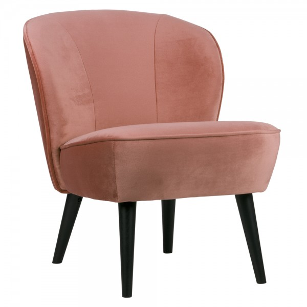 Sessel Polstersessel Sara Samt Bezug Loungesessel Clubsessel Chair Fernsehsessel