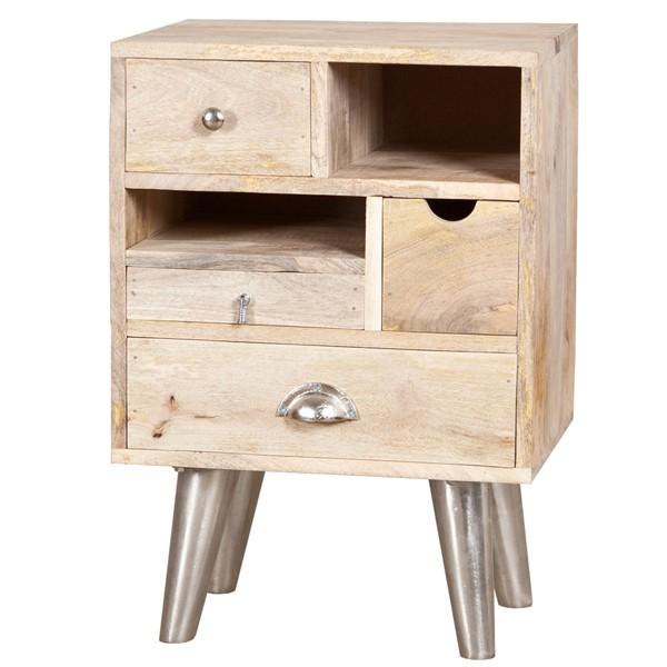 Landhaus Schrank Kommode Holzschrank Aufbewahrungsschrank Mango B 45 cm