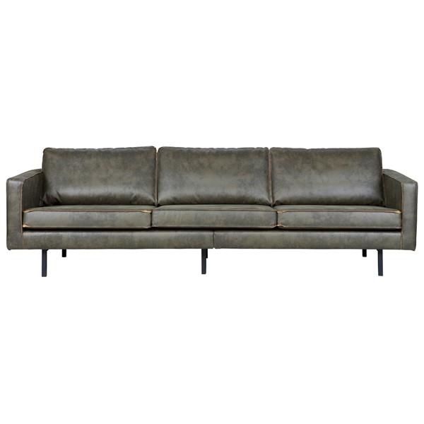 3 Sitzer Sofa RODEO Echtleder Leder Lounge Couch Garnitur armygrün