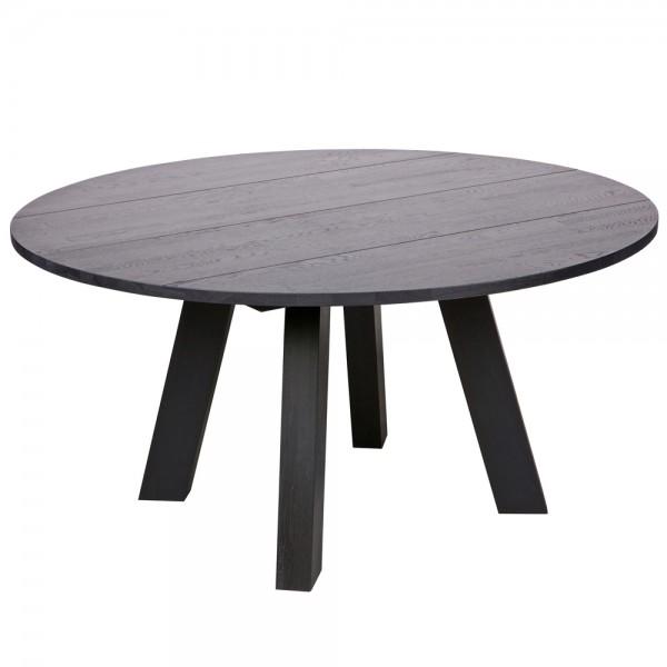 Esstisch RHONDA Holztisch Tisch Ø 150 Massivholz Küchentisch Eiche Öl Blacknight