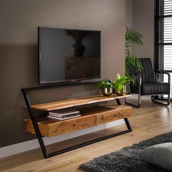 TV Möbel Lowboard Lou 140 cm TV Board Akazie