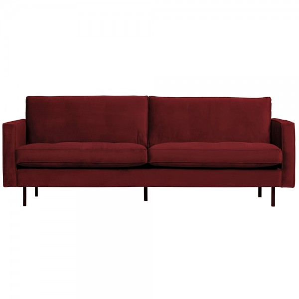 2,5 Sitzer Sofa Rodeo Classic Samt rot Couch Loungesofa Couchgarnitur