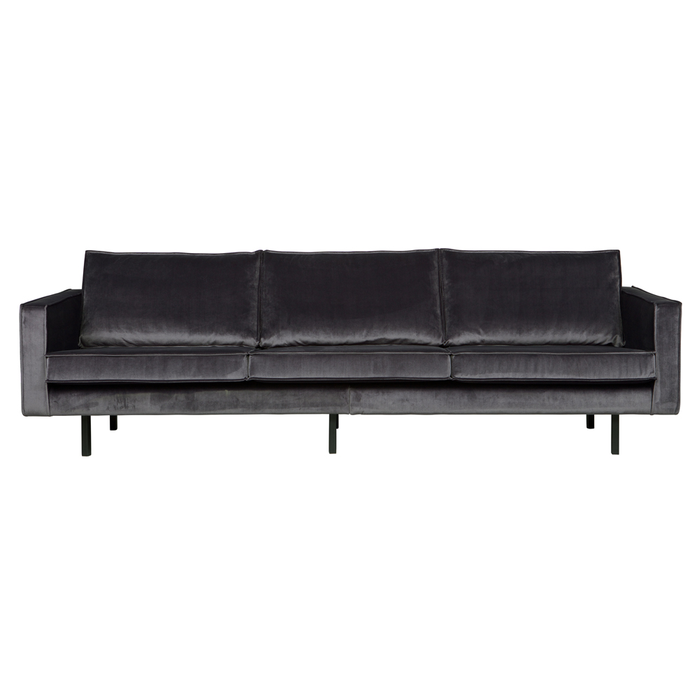3 sitzer sofa rodeo samt grau lounge couch garnitur loungesofa dreisitzer new maison esto. Black Bedroom Furniture Sets. Home Design Ideas