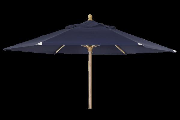 Holz Sonnenschirm Reggio rund Ø 300 cm blau