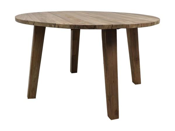 Teak Gartentisch rund 130 cm Teaktisch Holztisch massiv