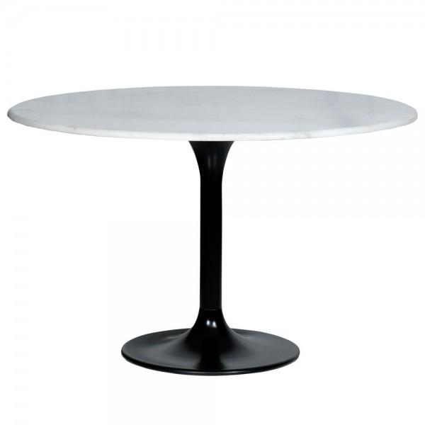 Esstisch Marmor weiß Ø 120 cm rund