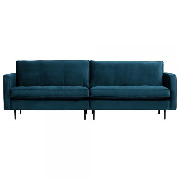 3 Sitzer Sofa Rodeo Samt Velvet blau Couch Garnitur Couchgarnitur