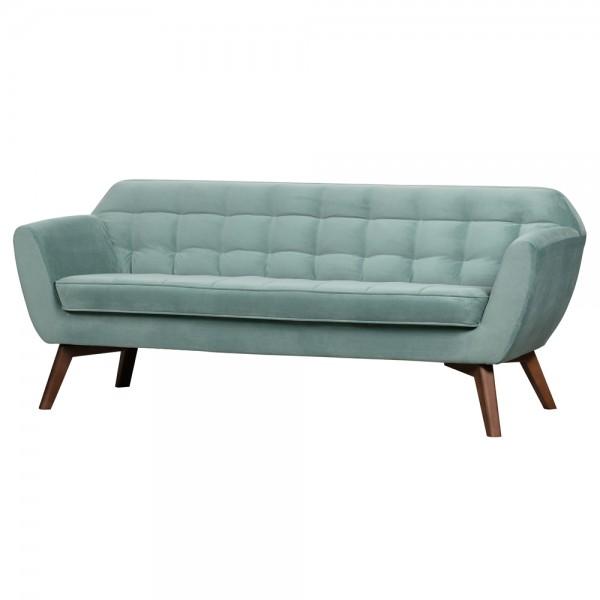 3 Sitzer Sofa Roxy Samt hellblau