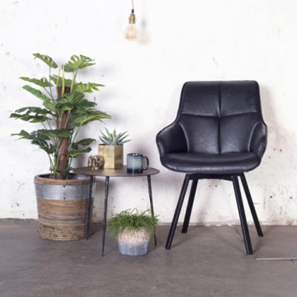 Esstischstuhl Stuhl drehbar Shannon Kunstleder schwarz